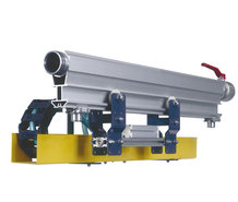 """""""W5-traxX"""", The automation solution with integrated compressed air line, sideways installed energy-guiding chain."""